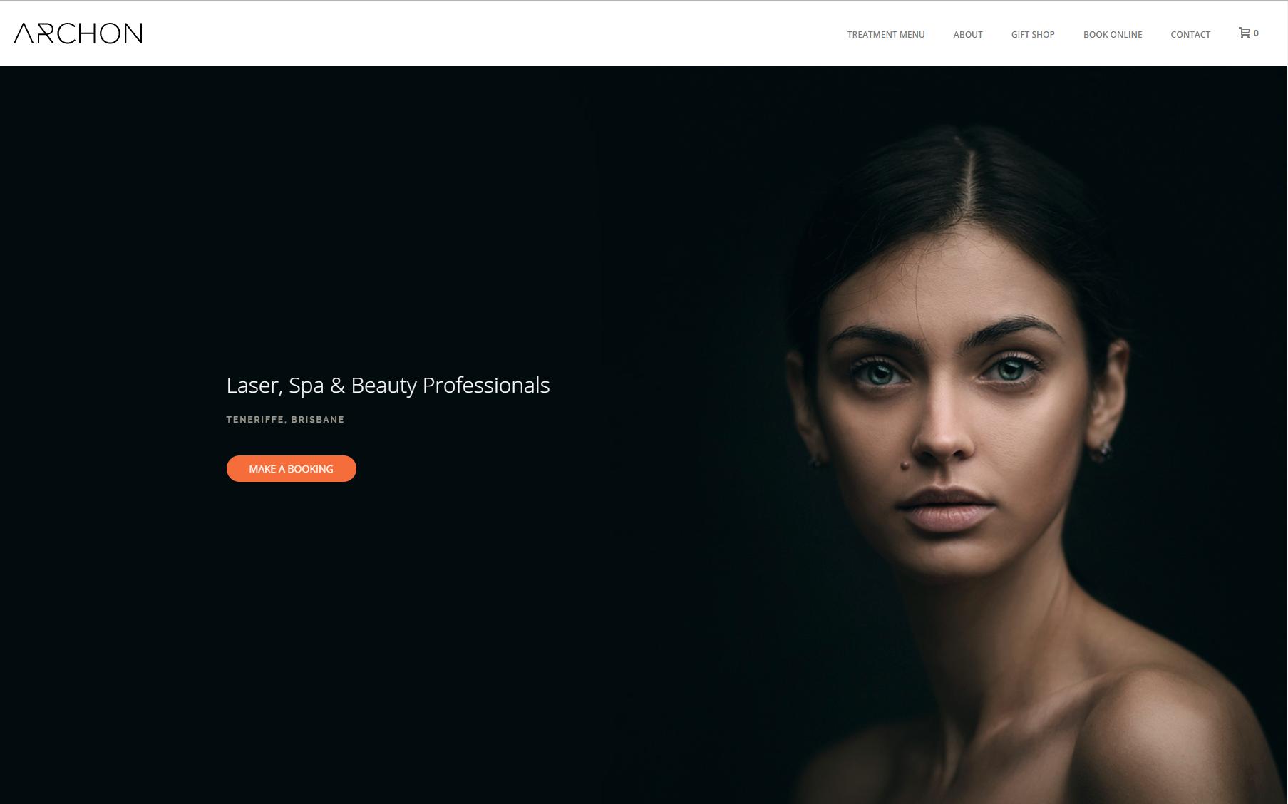 Пример впечатляющего минимализма дизайна сайта